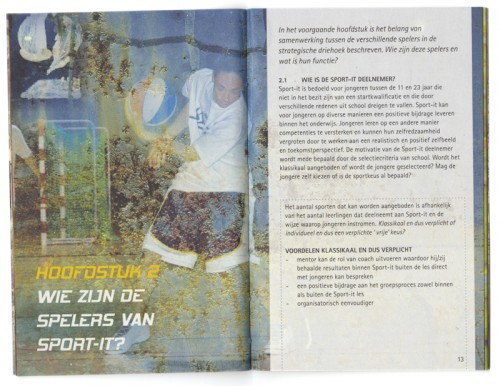brochure / boekje voor Sport-it