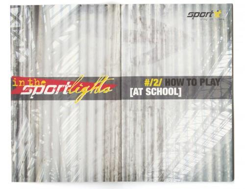 ontwerp brochure In the sportlights