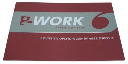 ontwerp folder voor 2Work arbeidsjuristen
