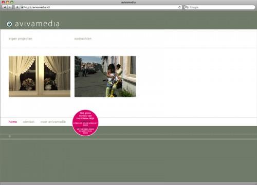 website ontwerp voor Avivamedia