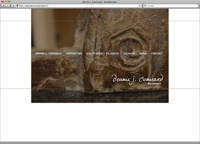 website ontwerp en uitvoering voor beeldhouwer Dennis Coenraad