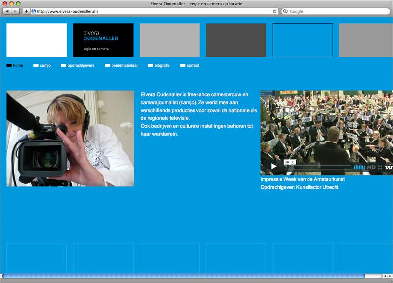 Ontwerp en technische realisatie website Elvera Oudenaller