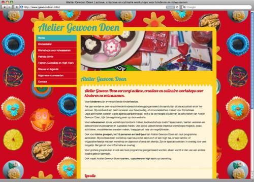 website ontwerp en technische realisatie WordPress voor Atelier gewoon doen