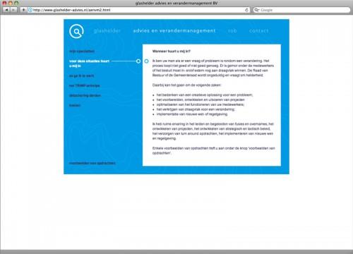 webdesign site Glashelder