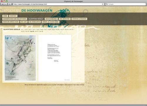 webdesign voor site uitgeverij de Hooiwaagen