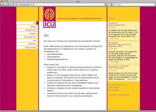 ontwerp en realisatie website ICU