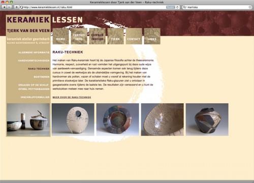 webdesign voor site keramieklessen