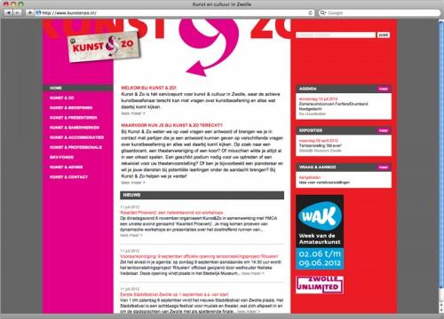 ontwerp website Kunst & Zo