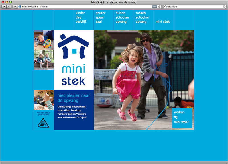 Website ontwerp en uitvoering dvm Wordpress voor Mini Stek