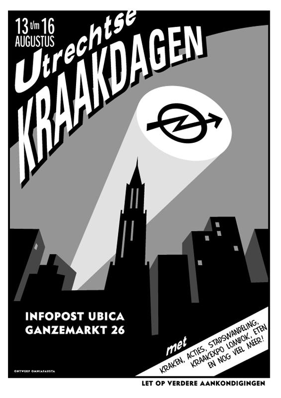 ontwerp poster Utrechtse kraakdagen