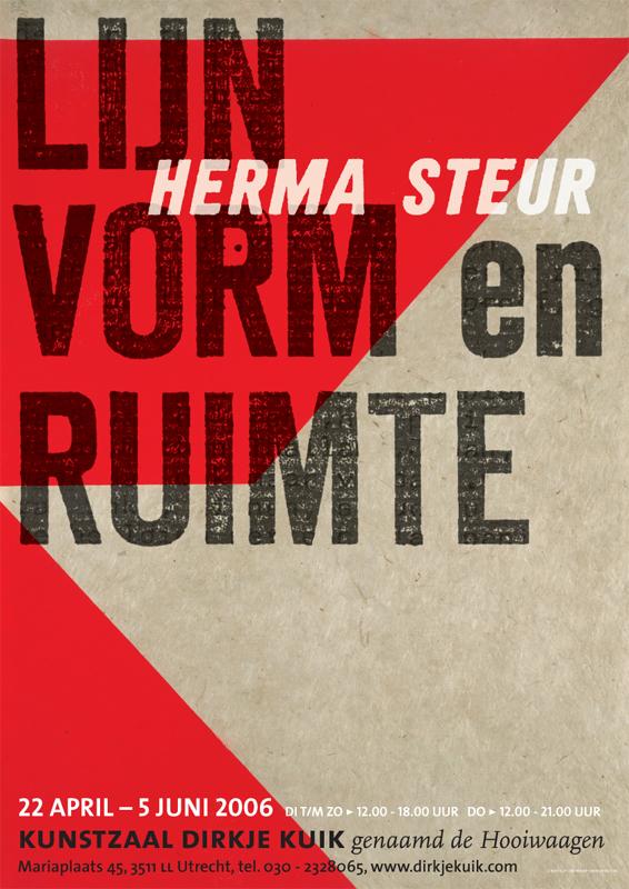 poster Lijn vorm en ruimte, Herma Steur