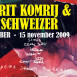 affiche expositie Gerrit Komrij en Kim Schweizer