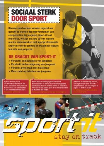 grafisch ontwerp poster Sport-it