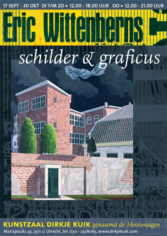 ontwerp affiche expositie Eric Wittenberns