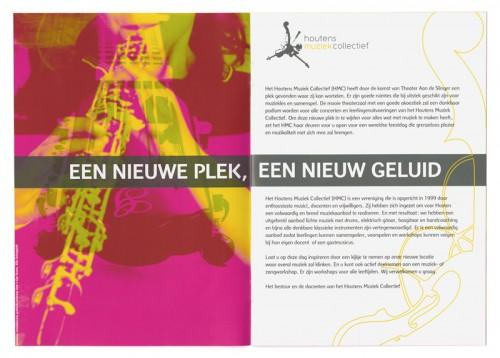 brochure voor muziekfestival van HMC