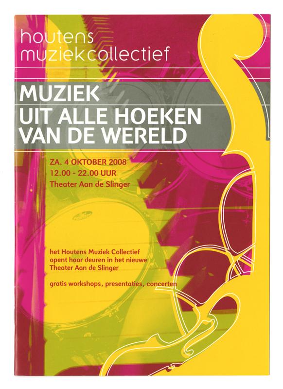 ontwerp brochure voor muziekfestival van HMC