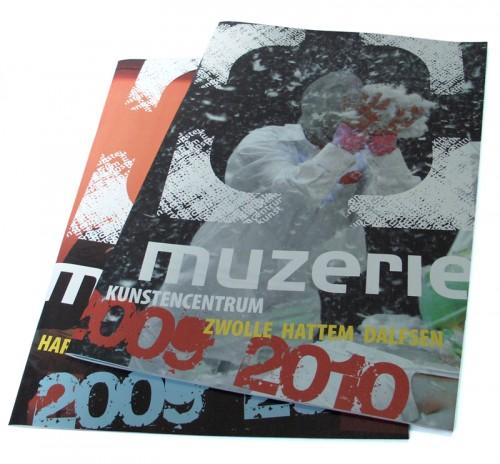 Ontwerp brochures cursusaanbod Muzerie