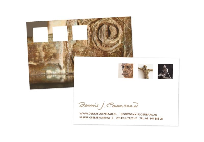 visitekaartjes beeldhouwer Dennis Coenraad
