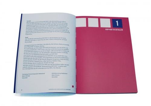 ontwerp voor hap + rav brochure