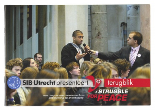 bedankboekje / terugblik op congres a struggle for peace