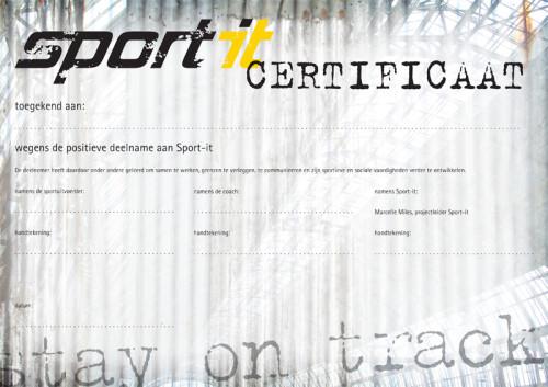 grafisch ontwerp Sport-it certificaat