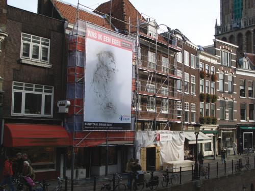 grafisch ontwerp steigerdoek in het centrum van Utrecht