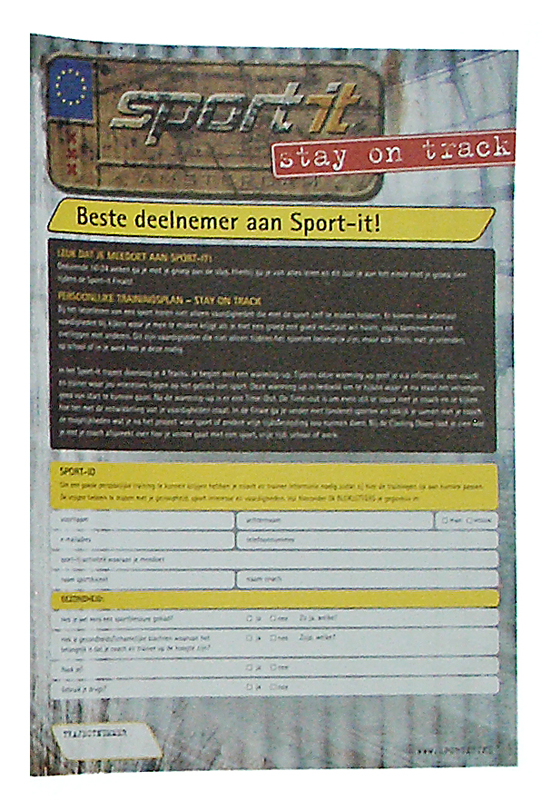 ontwerp POP formulier Sport-it
