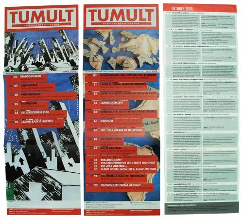 maandkalender ontwerp Tumult