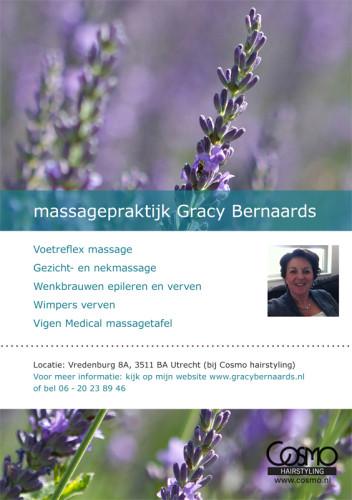 grafisch ontwerp flyer voor Gracy Bernaards