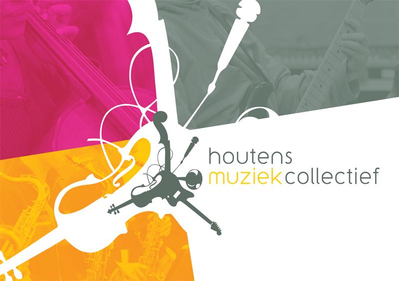 grafisch ontwerp flyer Houtens Muziek Collectief
