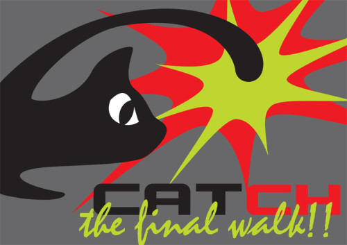 grafisch ontwerp uitnodiging Catch the final walk