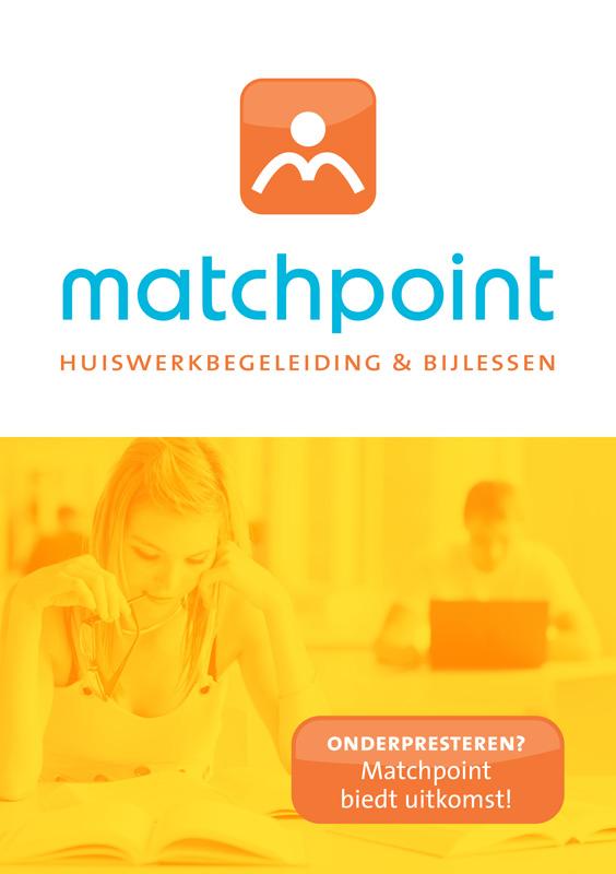 grafich ontwerp flyer voor Matchpoint