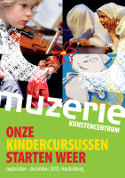 ontwerp flyer Kindercursussen Muzerie