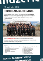 ontwerp flyer Thorbeckegrachtfestival Muzerie