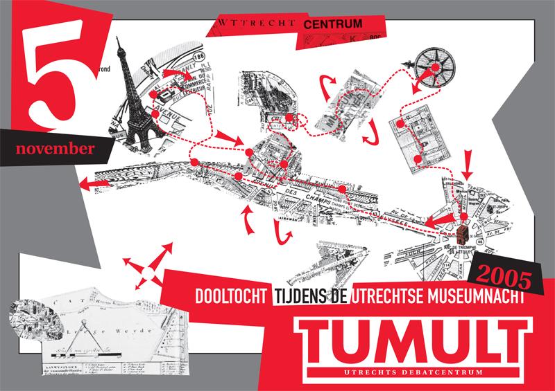 ontwerp en illustratie voor flyer dooltocht
