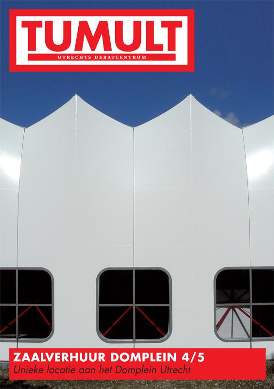 grafisch ontwerp flyer voor Tumult Utrecht