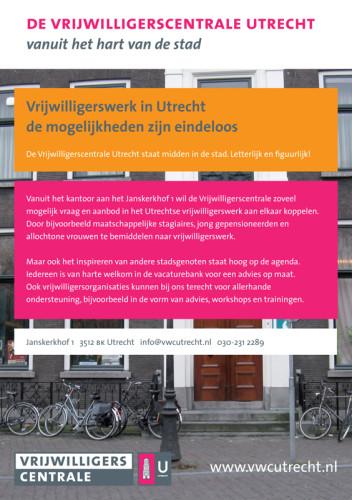 vormgeving flyer Vrijwilligerscentrale Utrecht