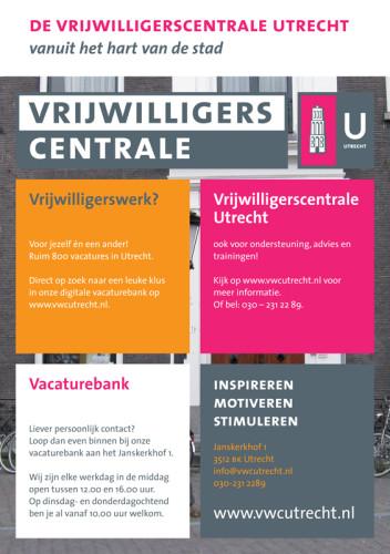 grafisch ontwerp flyer Vrijwilligerscentrale