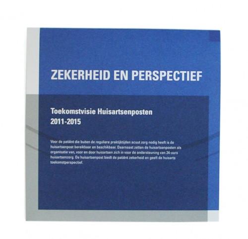 folder voor Vereniging Huisartsenposten Nederland