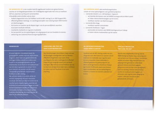 ontwerp diverse folders voor De Werkgid