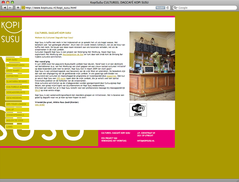 webdesign website Kopi Susu Utrecht
