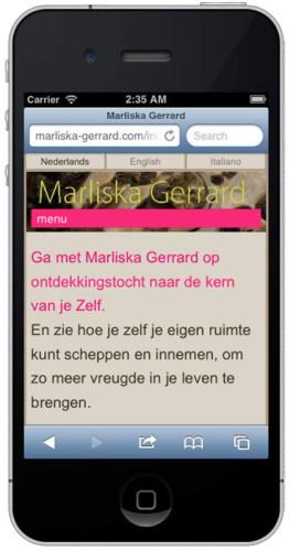 mobiele versie website Marliska Gerrard