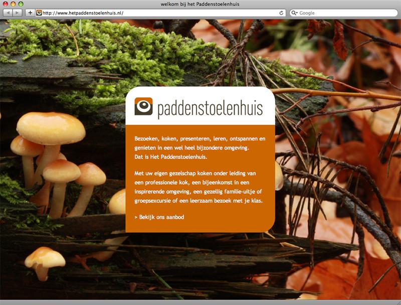 grafisch ontwerp en technische realisarie van website het Paddenstoelenhuis