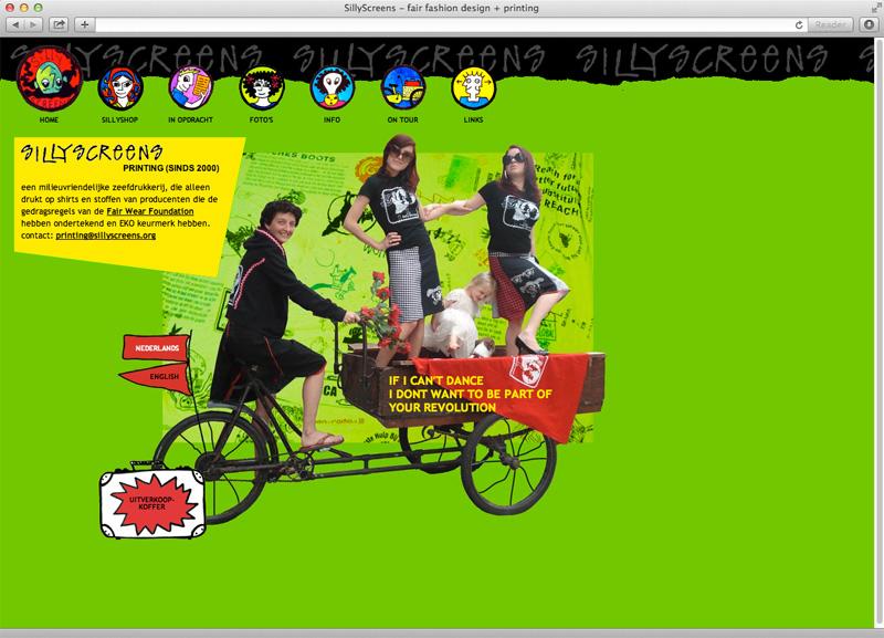 ontwerp en technische uitvoering website Sillyscreens
