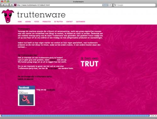 grafisch ontwerp en technische realisarie van website Truttenware