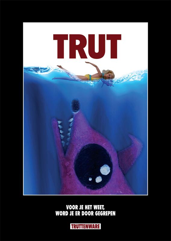 grafisch ontwerp truttenware-parodie filmposter Jaws