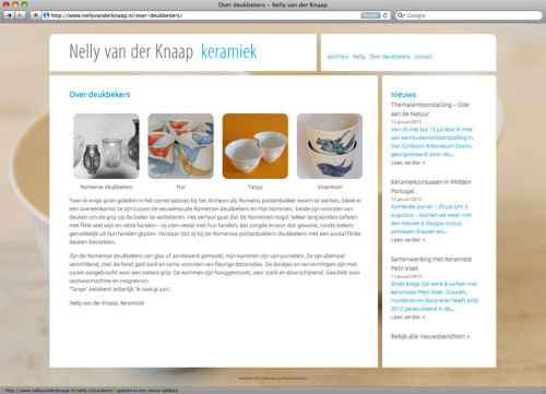 webpagina voor Nelly van der knaap