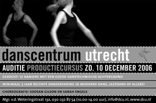 advertentie danscentrum Utrecht