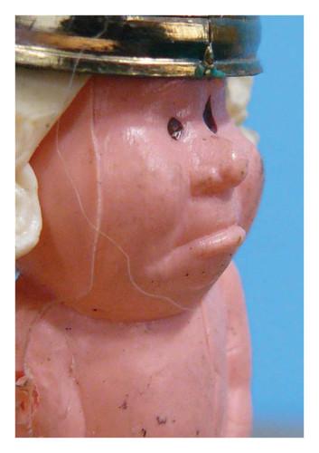 kaart portret sleutelhanger keizer, uit een reeks kaarten voor Truttenware