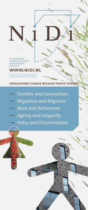 ontwerp van banner voor het Nidi Nederlands Interdisciplinair Demografisch Instituut